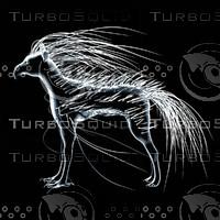 creature eagle dog 3d model