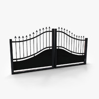 gate doors 3d model