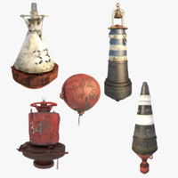 marine buoys 3d model