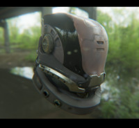 Sci Fi Helmet - Game ready with PBR textures