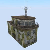 3d airbase control tower model