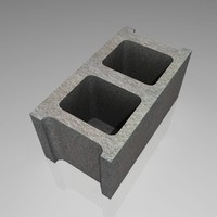 obj gray masonry block