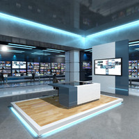 3ds max virtual set news studio