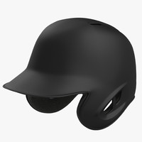 baseball helmet black matte 3d c4d
