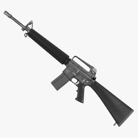 3d assault rifle m16