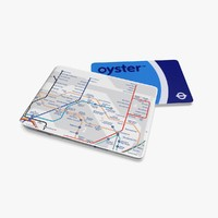 oyster card wallet london underground 3d 3ds