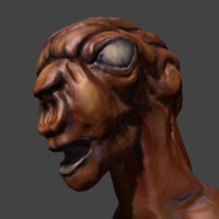 3d alien head