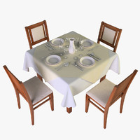 3d restaurant table model