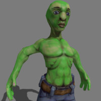 3ds max alien sculpted