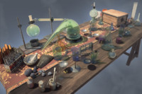 alchemical table 3d max