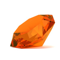 3d model simple diamond