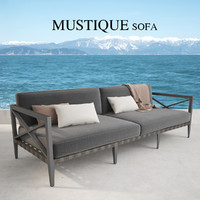 restoration hardware mustique sofa 3d max