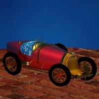 3d model classic antique race car