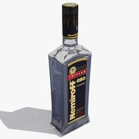 3d vodka nemiroff model