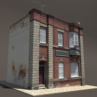Apartment House Low Poly 3d Model #152