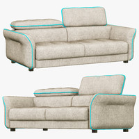 hasta sacramento sofa 3d model