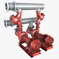3d water pump model