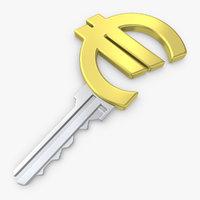 realistic euro key 3d max