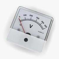 3ds max dc voltmeter 02