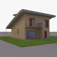 3ds max european house modern