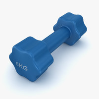 3d model dumbbell 6kg