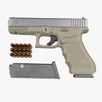 glock 17 semi automatic 3d model