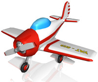 3d small toy plane