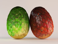 3d model dragon eggs