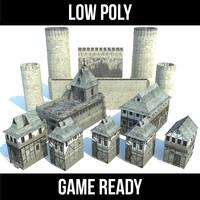3d model of castle kit games