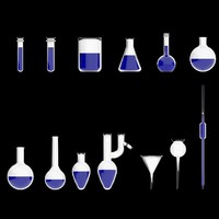 13 laboratory glasses objects 3d model