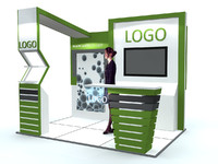 3d stand exhibition model