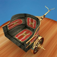 3d model roman chariot military transport