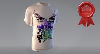 3d max male t-shirt