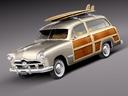 Ford woodie 3D models
