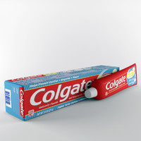 colgate tooth paste 3d model