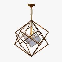 3d lamp light cubic chandelier