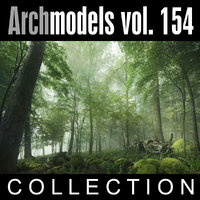 archmodels vol 154 plants trees c4d