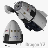 3d spacex v2 dragon model