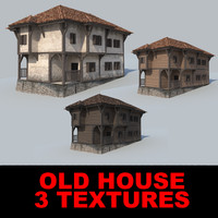 3d house old medium model