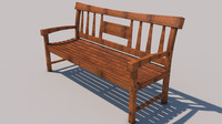 3d modeled bench model
