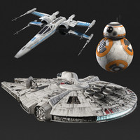 3d model of star wars new