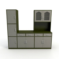 3d 3ds cabinet kitchen interior
