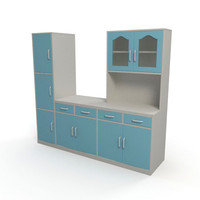 cabinet kitchen interior 3d obj