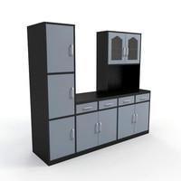 3dsmax cabinet kitchen interior