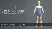 3ds max amanda female body scan