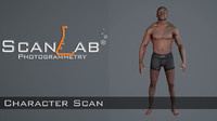 3d model dee male body scan