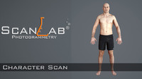 3d mark male body scan model