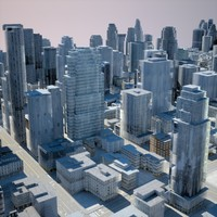 cityscape scene highrise 3d model