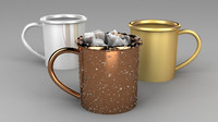 3d model mug icecubes