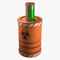 3d sci fi barrel model